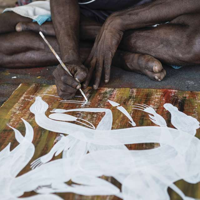 Voyage en Australie - Peinture aborigène