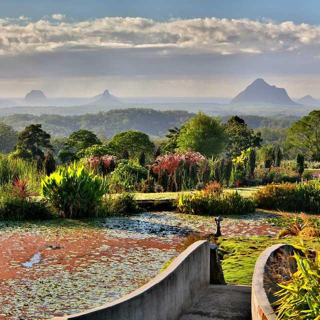 Voyage sur la côte australienne - Maleny, Glass House Mountains