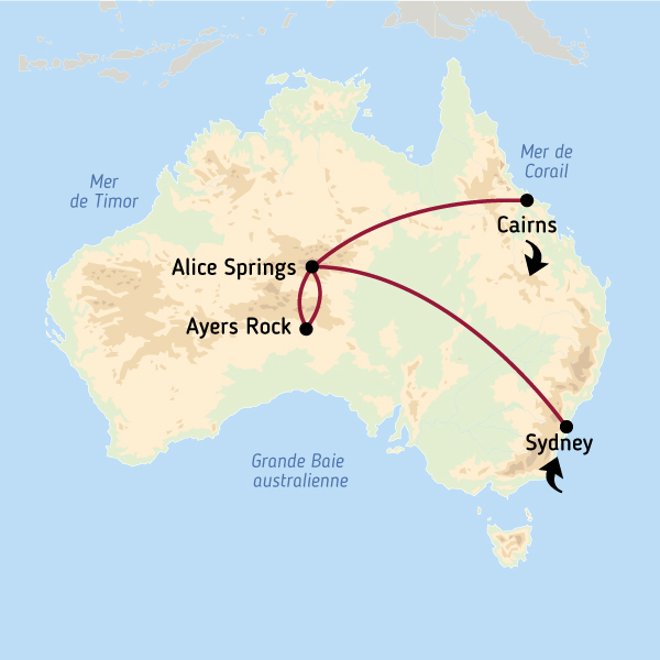 Carte Australie Grande Ville.Incontournables Australie Trilogie Australienne Voyage Australie
