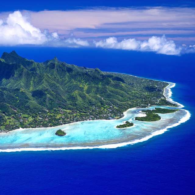 Voyage aux Îles Cook - Vue du ciel
