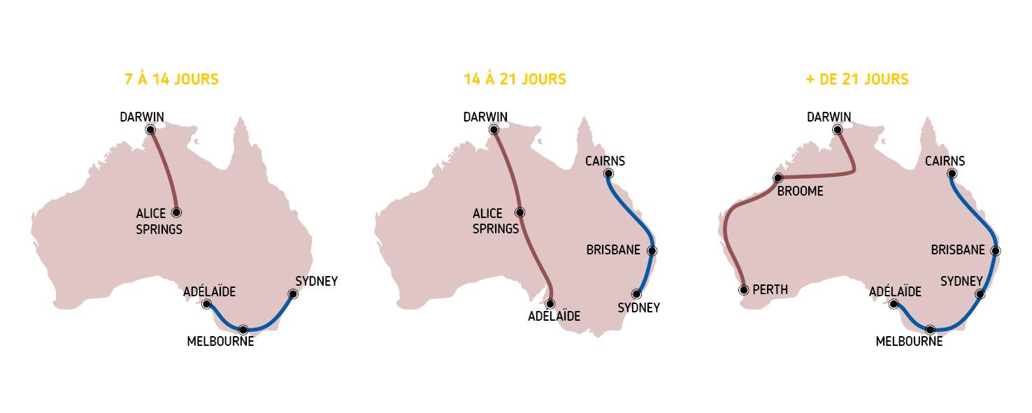 Carte Camping Australie.Duree Et Programme De Voyage En Australie Australie Tours