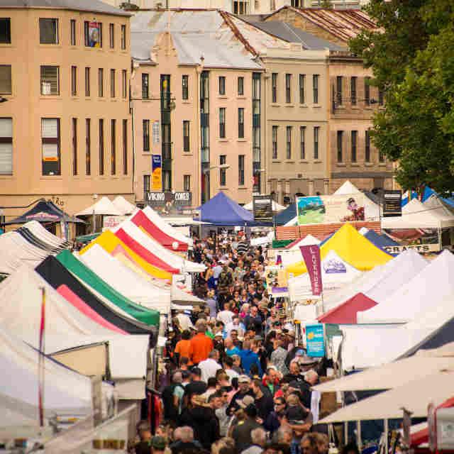 Salamanca Market à Hobart - Voyage en Tasmanie - escale à hobart