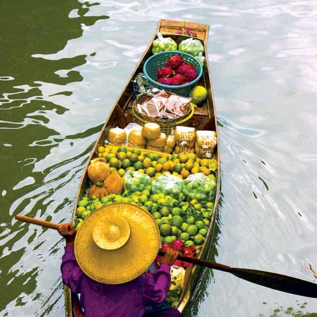 bangkok marché flottant voyage thailande