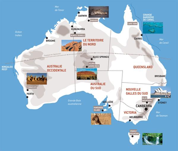 Carte Australie Sud.Carte De L Australie Voyage Australie Australie Tours
