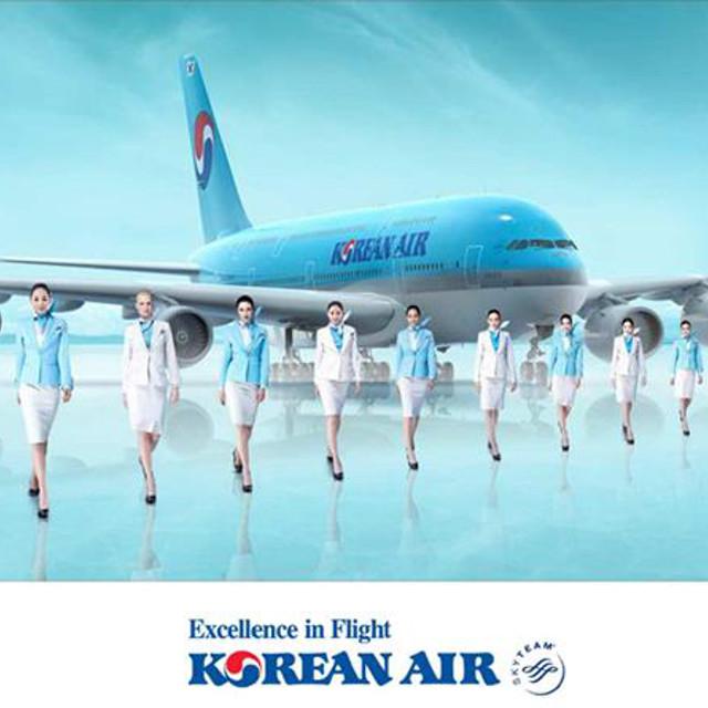 Avion de la compagnie aérienne Korean Air et son équipage