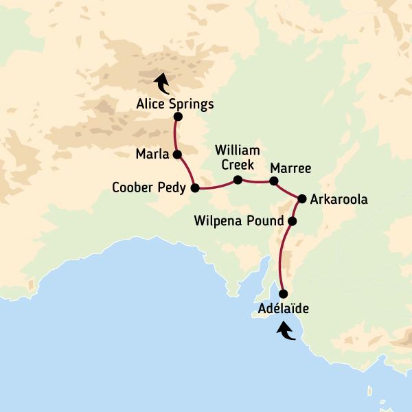 Carte Geologique Australie.Voyage En Australie Les Pistes De L Outback Road Trip