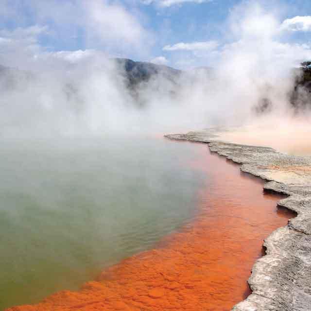 Champagne Pool, Voyage Nouvelle-Zélande