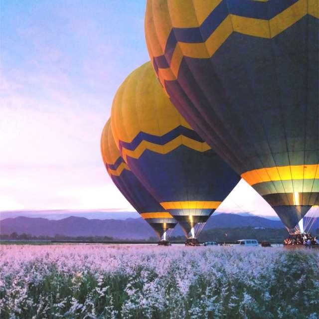 voyage en camping-car en Australie - Survol en montgolfière